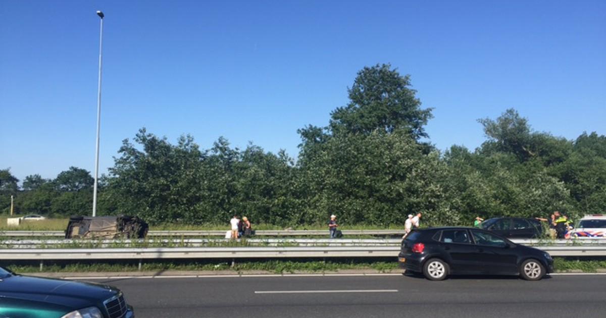 A9 dicht bij Haarlem-Zuid na ernstig ongeluk.