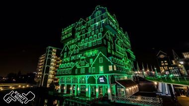 Hotel Inntell groen gekleurd