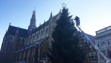 Haarlem hangt 10.000 lichtjes in enorme kerstboom